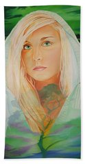 Bath Towel featuring the painting The Dreaming Tree by Joshua Morton