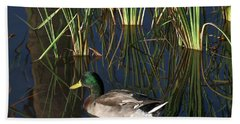 The Duck On The Pond At Papago Park Bath Towel