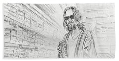 The Dude Abides Hand Towel