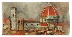 The Duomo Florence Bath Towel