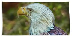 Bath Towel featuring the photograph The Eagle Look by Hanny Heim