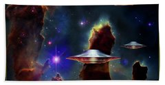 The  Eagle  Nebula  Bath Towel by Hartmut Jager