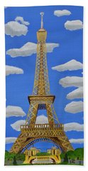 Bath Towel featuring the painting The Eiffel Tower  by Magdalena Frohnsdorff