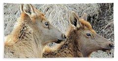 The Elk Of Winter  Bath Towel