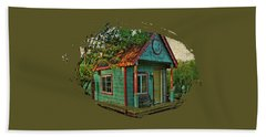 Hand Towel featuring the photograph The Enchanted Garden Shed by Thom Zehrfeld