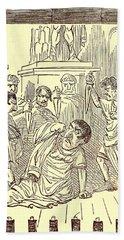 The End Of Julius Caesar Hand Towel