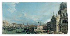 The Entrance To The Grand Canal And The Church Of Santa Maria Della Salute Bath Towel