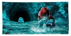Hand Towel featuring the digital art The Eternal Ballad Of The Sea by Olga Hamilton
