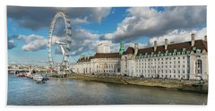 The Eye London Hand Towel by Adrian Evans