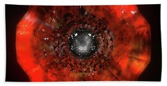 The Eye Of Cyma - Fire And Ice - Frame 40 Bath Towel