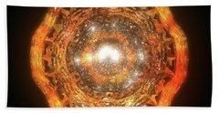 The Eye Of Cyma - Fire And Ice - Frame 7 Bath Towel