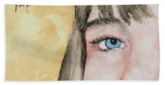The Eyes Have It - Bryanna Hand Towel by Sam Sidders