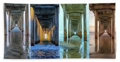The Faces Of Scripps Pier #4 Hand Towel