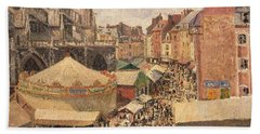 The Fair In Dieppe Bath Towel