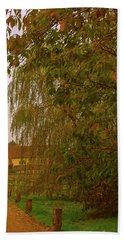 Hand Towel featuring the photograph The Farm In Autumn by Anne Kotan