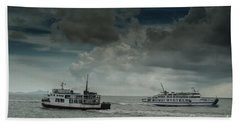 The Ferries Hand Towel by Michelle Meenawong