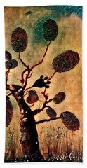 The Fingerprints Of Time Bath Towel by Vennie Kocsis