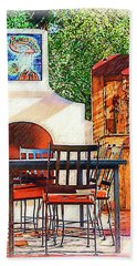 The Fireplace, Table And Door Hand Towel