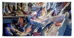 The Fish Market Bath Towel