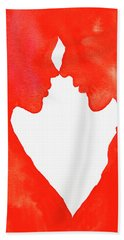 The Flame Of Love Hand Towel by Iryna Goodall