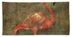 Hand Towel featuring the photograph The Flamingo by Hanny Heim