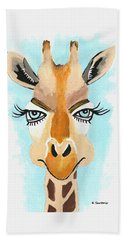 The Flirt - Giraffe Hand Towel