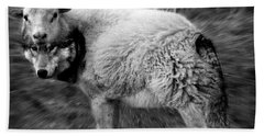 The Flock Is Safe Grayscale Hand Towel