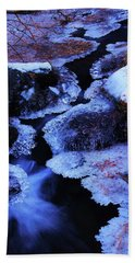 The Flow Of Winter Bath Towel by Sean Sarsfield