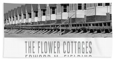 The Flower Cottages By Edward M. Fielding Hand Towel