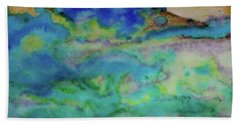 Bath Towel featuring the painting The Fog Rolls In by Kim Nelson