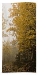 The Foggy Trail Beckons Bath Towel