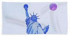 The Fool Blood Moon And The Lady Liberty  2 Hand Towel