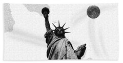 The Fool Blood Moon And The Lady Liberty  3 Hand Towel