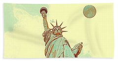 The Fool Blood Moon And The Lady Liberty  4 Hand Towel
