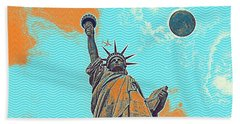 The Fool Blood Moon And The Lady Liberty  5 Hand Towel
