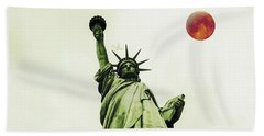 The Fool Blood Moon And The Lady Liberty Hand Towel