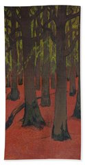 The Forest With Red Earth Hand Towel