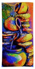 The Fountain Of Pots Bath Towel by Kirt Tisdale