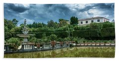 The Fountain Of The Ocean At The Boboli Gardens Hand Towel
