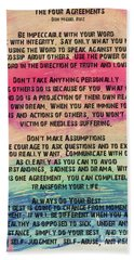 The Four Agreements 11 Hand Towel