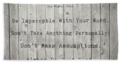 The Four Agreements 12 Hand Towel