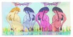 The Four Daughters Of Eve  -aka-  Four Rivers Hand Towel