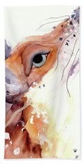 Hand Towel featuring the painting The Fox by Dawn Derman