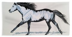 The Framed American Paint Horse Hand Towel