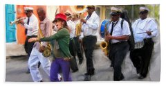 The French Quarter Shuffle Hand Towel
