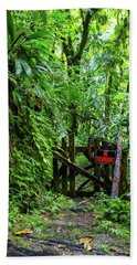 Bath Towel featuring the photograph The Friendly Forest by Arthur Dodd