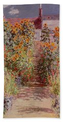 The Garden At Vetheuil Hand Towel