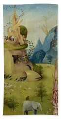 The Garden Of Earthly Delights, Detail Of Left Panel Showing Paradise Bath Towel
