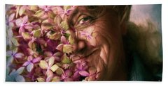 The Gardener Hand Towel by Jean OKeeffe Macro Abundance Art