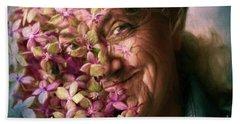 The Gardener Bath Towel by Jean OKeeffe Macro Abundance Art